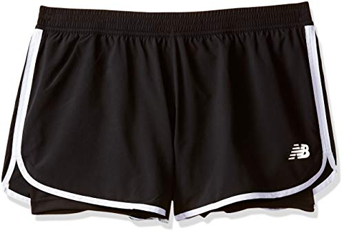 New Balance Damen Accelerate 2-in-1 Train Short schwarz, Small (New Balance-performance)