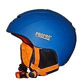 1-1 Professionel Ski Helm ABS Integriertes Formteil Einstellbar Herausnehmbares Futter Warm Schlittschuh Skateboard Outdoor-Sportarten Schutzausrüstung,Blue,M