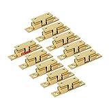 LOOTICH Messing Robust Doppel-Kugelschnäpper 60mm Türschapper Möbel-Schnapper mit Verstellbaren Türstopper Türschnäpper für Küche Schranktüren Schränke (10 Stück)