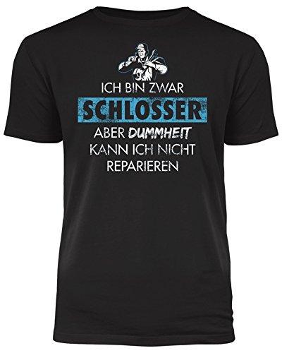 Outfitfaktur Ich Bin Zwar Schlosser - Herren T-Shirt Schwarz