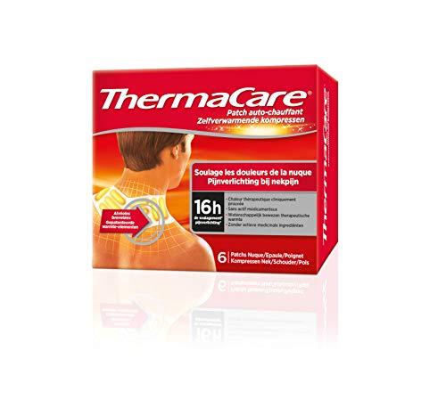 ThermaCare Selbstbeheizendes Patch, Nacken, Schulter und Handgelenk, lindert Nackenschmerzen, 8H konstante Wärme, 6 Stück