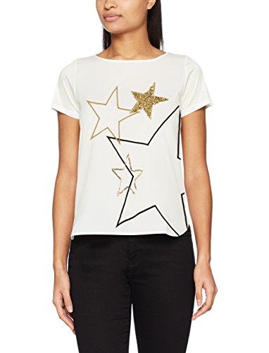 Pennyblack Damen T-Shirt rebus Multicolore (Bianco Avorio)