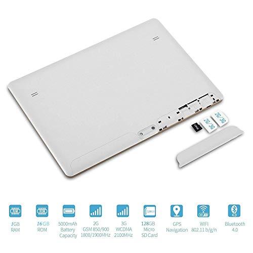 Ocamo 10,1 Zoll 2560 * 1600 IPS HD Bildschirm Android Tablet 8000 mAh 3G GPS Bluetooth Tablets Weißer EU-Stecker