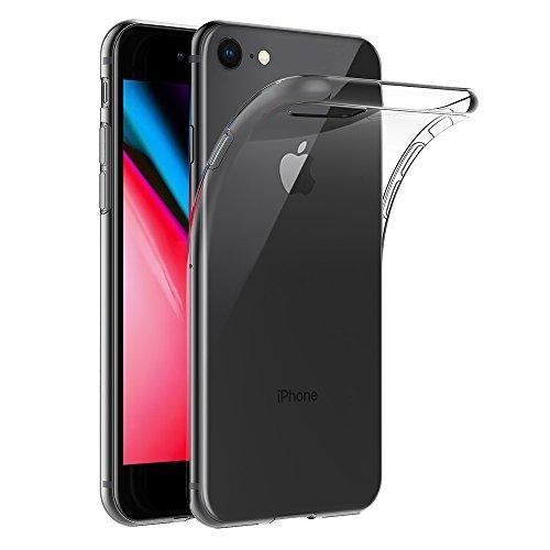 82856abd2f4 AICEK Funda iPhone 7 / iPhone 8, Apple iPhone 7 Funda Transparente Gel  Silicona Apple