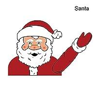 Ohwens Christmas Santa Claus/Snowman Waving Arm Wiper Decals Car Sticker Styling Decor