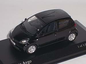 minichamps toyota aygo noir cinque-porte nouveau boÎte comme neuf !! 1/43 minichamps voiture modÈle