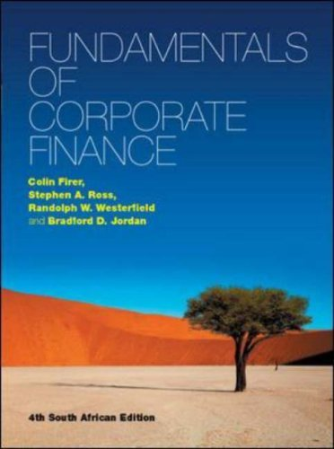 Fundamentals of Corporate Finance by Colin Firer (2008-06-01)