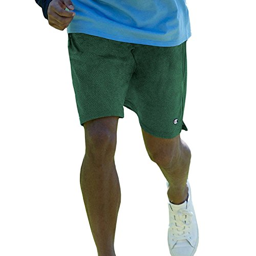 Meister lange Mesh Männer Shorts mit Taschen (XX-großen, dunklen Grün) (Shorts Grün Mesh Champion)