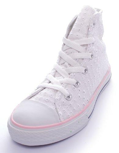 Tela Bianco Sneaker Taylor Unisex Converse Hi Alta Tela Sangallo Chuck TSXwvzxT