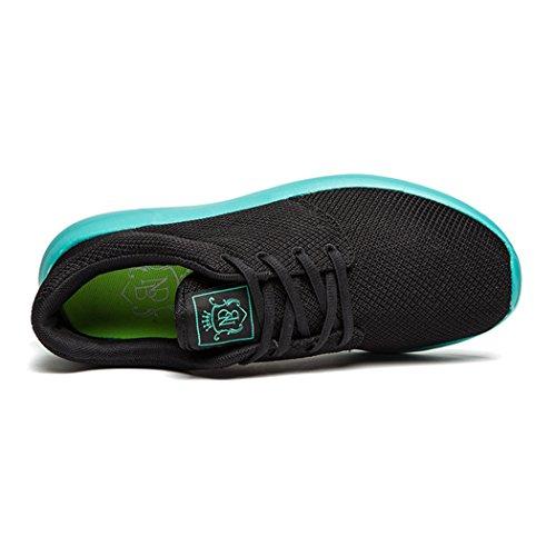 daillor Herren & Damen-air-breathing Mesh Laufschuhe, Walking Sneakers Blackblue