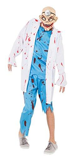 Bristol Novelty AC374 Verrückter Chirurg Kostüm, Weiß, 44-Inch