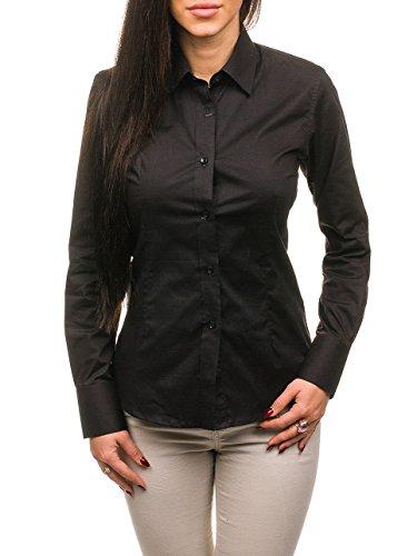 Bolf camicia slim fit – a manica lunga – con coletto italiano – slim fit – casual - da donna laviino ns20 nera m [b2b]