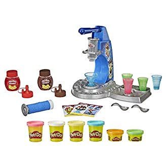 Play-Doh Drizzy Eismaschine mit Toppings, inklusive Play-Doh Drizzle Knete und 6 Play-Doh Farben
