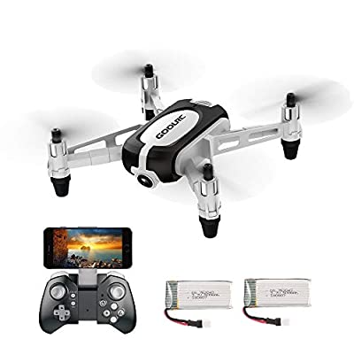 GoolRC T700 720P Wifi FPV Mini Selfie Drone G-Sensor Altitude Hold RC Training Quadcopter w/ 2 Battery for Beginners Kids