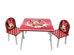 childs table et deux chaises disney minnie mouse de marque jeux et jouets. Black Bedroom Furniture Sets. Home Design Ideas