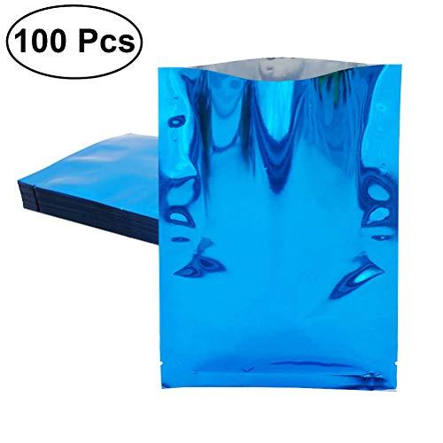 bestonzon 100Aluminium Folie Mylar Tasche Vakuumiergerät Nahrungsmittel Paket Aufbewahrung Beutel–9x 13cm (blau) (Bulk Lebensmittel-lagerung-container)