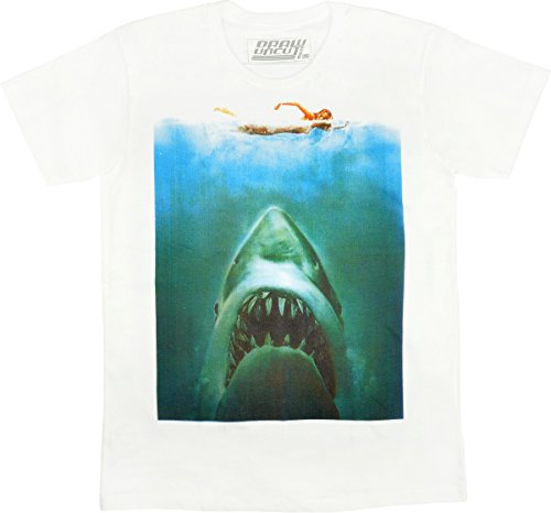 Jaws Movie - Classic Shark Movie Poster - Mens T Shirt