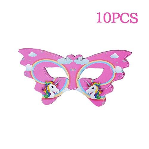 Bontand 10pcs Unicorn Party Supplies Kindergeburtstag Dekoration Einhorn-geformten Sonnenbrillen Banner-Babyparty-Mädchen-Dekor
