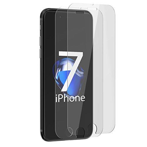 iPhone 7 Protector de Pantalla, Mpow 2-Pack Vidrio Templado Tempered Glass Anti-Reflejo,...