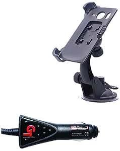 Pure² Kit de fixation de voiture flexible 360° zéro vibration pour support de téléphone portable avec câble de chargeur micro USB 1 A pour Samsung Galaxy S3 mini