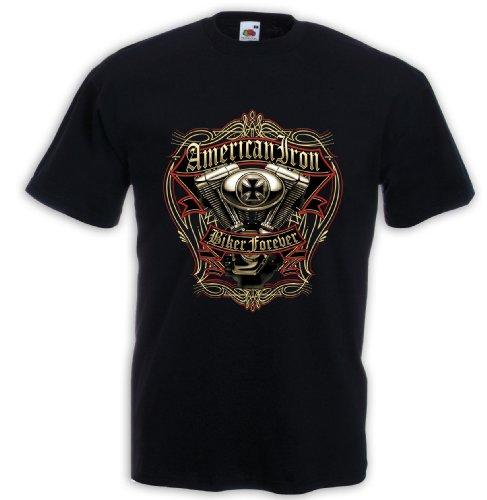 biker-maglietta-american-iron-motorcycle-tattoo-rockabilly-evo-v8-grxxl