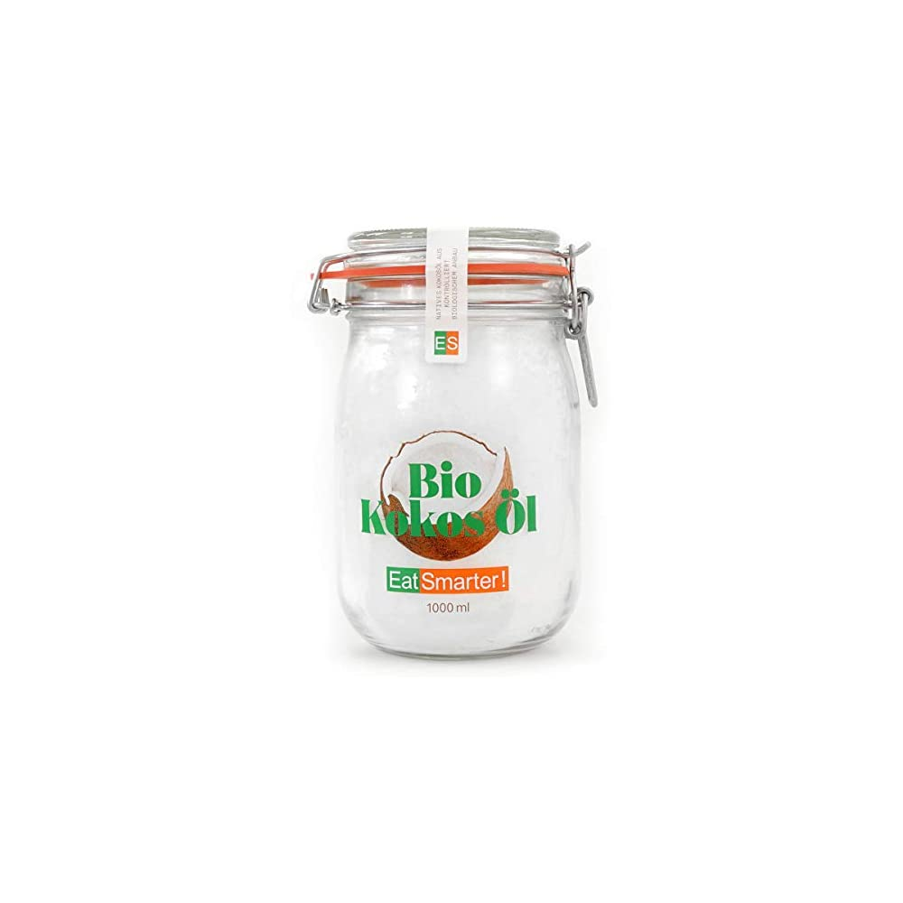 Eatsmarter Premium Bio Kokosl Nativ Kaltgepresst 1000ml Vorratsglas Low Carb Und Vegan