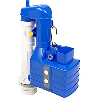 Thomas Dudley Turbo 88 2 Part 7.5 inch-9.5 inch Adjustable Lever Flush Syphon 324395, Blue