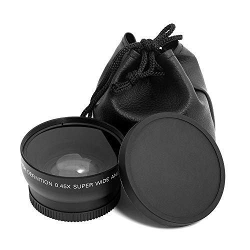 52 mm 0,45 x Fisheye-Objektiv, Weitwinkel-Makroobjektiv für Nikon D70 D3200 D3100 D5200 DSLR-Kameraobjektiv (Nikon D3200 Dslr-objektive)