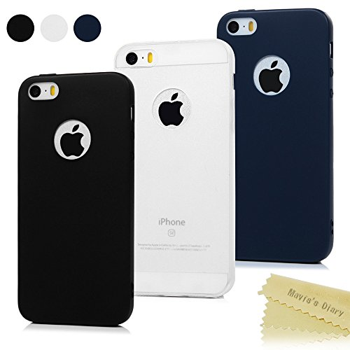 30b5c21c0e1 3x Funda iPhone SE, Carcasa iPhone 5S Silicona Gel - Mavis's Diary Mate  Case Ultra