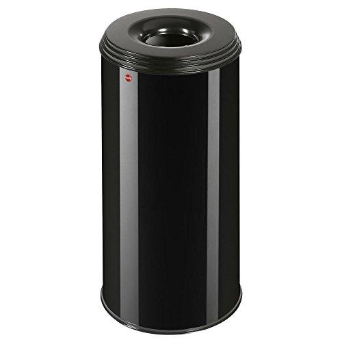 Hailo ProfiLine Safe XL Flammenlöschender Papierkorb (aus Stahlblech, Deckel schwarz, 45 Liter) 0950-732 -