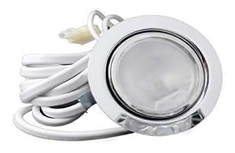 Kamilux spot encastrable à éclairage halogène 200 cm, câble et connecteur aMP-couleur :  chromé brillant-à intensité variable (convient pour vitrines, placard, meubles de cuisine