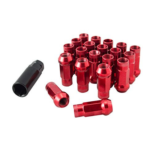 JDM Lug Nuts Stahl M12x1,5 Radmuttern Rot passend für viele Honda Toyota Lexus Mazda Mitsubishi