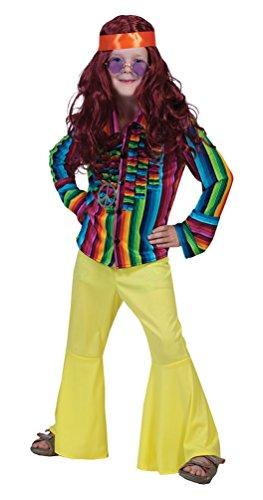 Karneval-Klamotten Hippie Hemd Kinder 60er Jahre 70er Jahre Kinder-Kostüm Größe - 70er Jahre Disco Kostüm Kinder