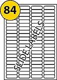 Labels4U Mehrzweck-Etiketten, kompatibel mit Avery & L7656, blanko, selbstklebend, bedruckbar mit Kopierer, Laser- oder Tintenstrahldrucker, 46mm x 11.1mm, Weiß, 84Etiketten pro Seite, 100Blatt