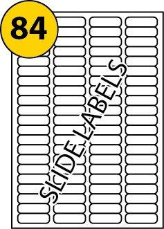 Labels4u Lot de 100 feuilles de 84 étiquettes autocollantes multifonction compatibles avec Avery L7656, blanc, vierge, imprimable avec copieur, imprimante laser ou jet d'encre, 46mm x 11,1mm