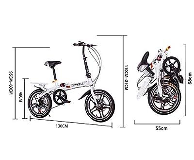 AI-QX 16 ''Cruiser, Student Faltrad, Kohlenstoffstahl, Doppelscheibenbremsen, tragbarer Speicher,Weiß