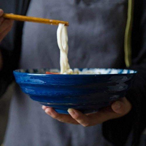 Große Suppe Ramen Nudelschüssel Obstsalat Pasta mischen servieren Schüssel kreative handbemalte...