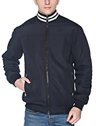 aarbee mens quilted reversible jacket (navy, Large)