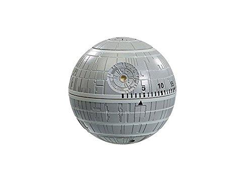 Star Wars Temporizador de cocina con diseño de la Estrella de la muerte, color gris