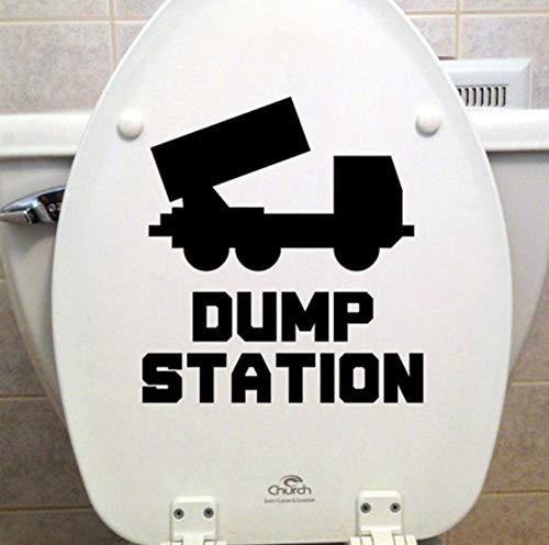 Dump Station-Wc-Sitz Vinyl Aufkleber-Bad Abziehbilder Kunst Decor-Wc Tapete Dekoration-Größe 20X21 Cm