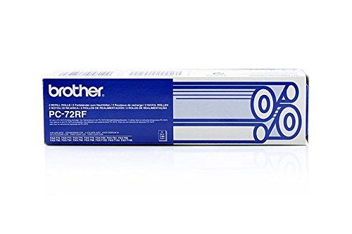Preisvergleich Produktbild Original Thermo-Transfer-Rollen passend für Brother Fax T 102 Brother 27720 , PC72RF - 2x Premium - Schwarz - 140 Seiten