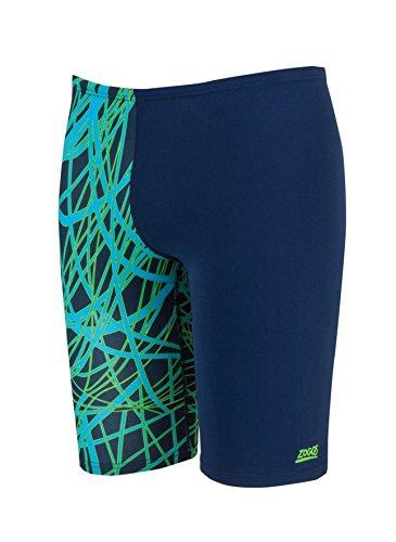 Zoggs-Costume da nuoto, da uomo, colore: verde/multicolore verde - Green/Multi-Colour
