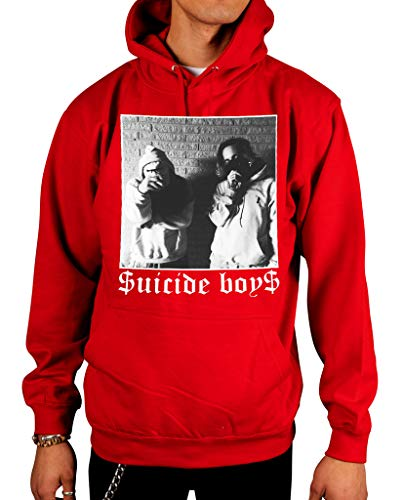 Ulterior Clothing Suicide Boys Black and White Pose Hoodie -