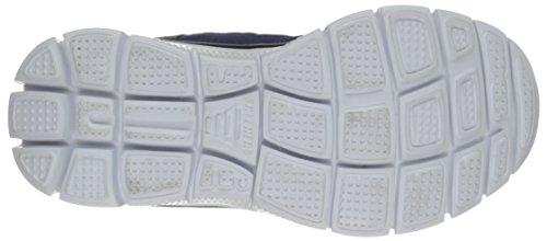Skechers Flex Advantage, Baskets Basses Garçon Bleu (Marine/Jaune)
