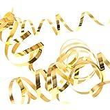 NEU Luftschlangen, 3er Pack, Metallic Gold - 3