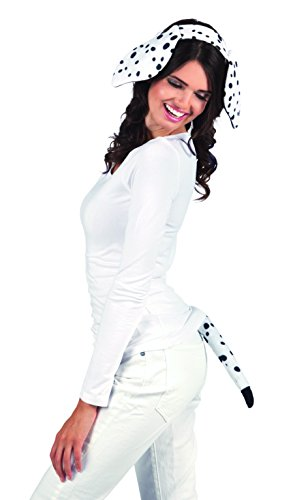 Boland 52304 - Kostümset Dalmatiner, Haarreif und Schwanz (Dalmatiner Kostüm Für Erwachsene)