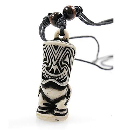 Artisanal Handwerk Halskette Tiki Polynesien Maori Schmuck Tribal Surf, Strand, Urlaub
