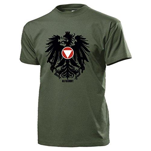 Bundesheer Österreich Adler Wappen Logo Abzeichen Heer Militär Armee - T Shirt Herren oliv #14517 (Adler-logo-shirt)