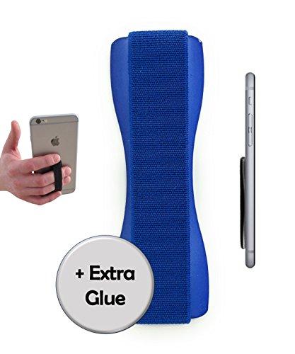 A/v-ständer Glas (CASE-HERO Premium Smartphone Fingerhalterung | inkl. ERSATZKLEBER | EINHAND Modus für Handy, Tablet, eReader | Hülle & Case | Auto Outdoor Finger Halterung | iPhone 6/7/plus, iPad, Samsung Galaxy (Blau/Blau))