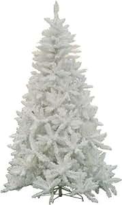 Albero Di Natale Bianco.Albero Di Natale Mod Sherwood Altezza 180 Cm Colore Bianco